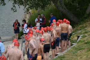 Waiting to start the 1.5km male race